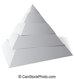 Vector Pyramid Five Levels, 3d Illustration - Five level...