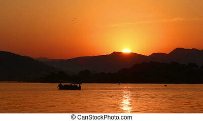sunset on lake - Udaipur India