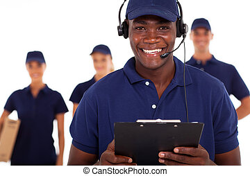 courier service - african american male courier service...
