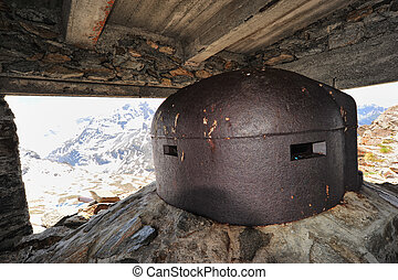 Military post on the Malamot fort over the col du Mont Cenis...