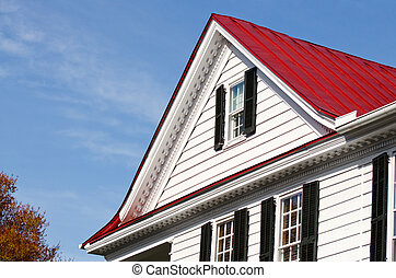 House with peak roof