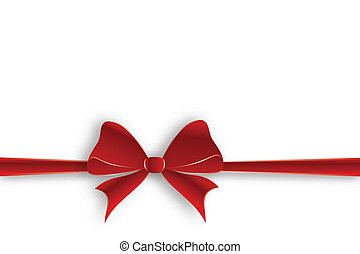 Horizontal red ribbon