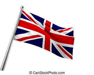 union jack - england flag isolated on white