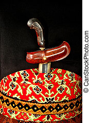 Keris is traditional weapons of Javanese Indonesia tucked...