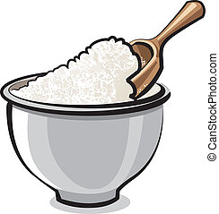 Flour in a bowl
