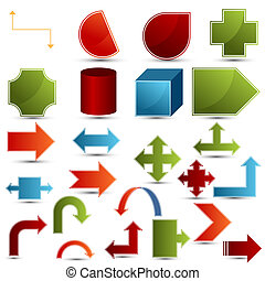 Chart Shapes - An image of a set of chart shapes