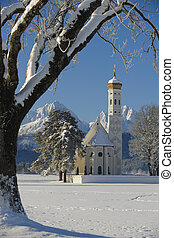 famous church St. Coloman in bavar - famous church St....