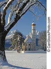 famous church St. Coloman in bavar - famous church St....