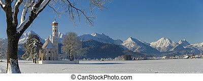 panorama landscape in bavaria - panorama view in bavaria,...