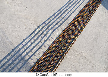 Armature - Reinforcement on concrete prepared for...