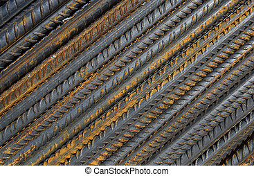 Armature - Heap of steel wire for building in close up