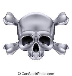 Skull and crossbones - Silver Skull and crossbones...