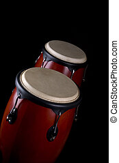 Percussion instrument - Two drums or bongo's
