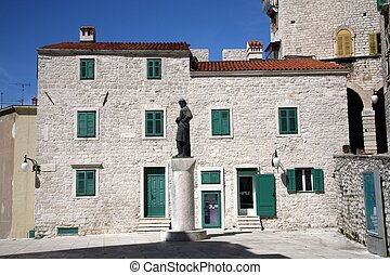 Ancient building in Sibenik, Croatia