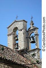 Bell tower in the Sibenik, Croatia
