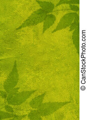 Green background with the painting leaves