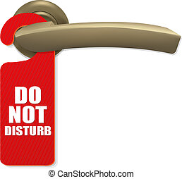 Door Handle - Do Not Disturb Sign With Copper Door Handle...