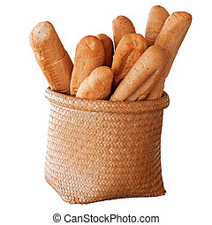 French Bread in basket - French Bread Baguette - in basket...
