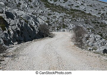 Road on mountain Velebit - Croatia