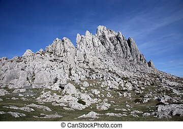 Cliff on mountain Velebit - Croatia