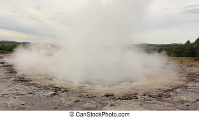 Strokkur Double - Rare double eruption of famous Strokkur...