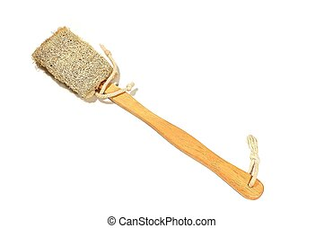 Loofah Brush - Brush for cleaning the shower is made of...