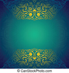 Modern cyan colored vector background