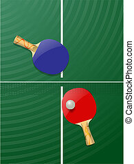 table tennis - vector realistic table tennis concept, eps10...