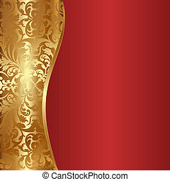 background - decorative gold and red background