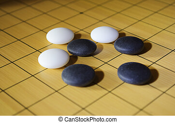 Ko - Classical ko situation in the traditional Asian game go...