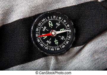 compass on a dark background
