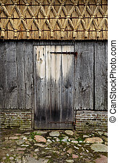 Barn door - Door of old wooden barn
