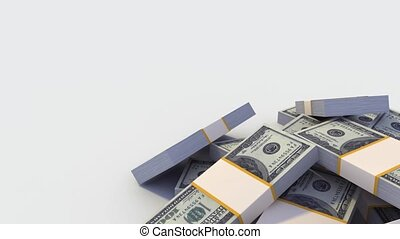 Stack of Dollar bills - Stack of Dollar bills spinning right...