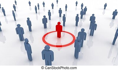 Human Resources - Camera rotating around business people...