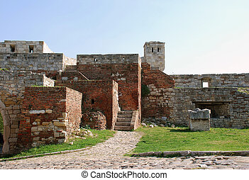 Stone fortress in Belgrade - walls of ancient fortress...