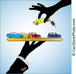 Illustration Concept of Car Sale - Illustration of Car Sale...