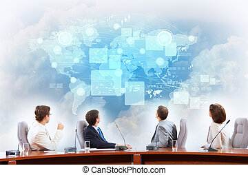 Business presentation - Image of businesspeople at...