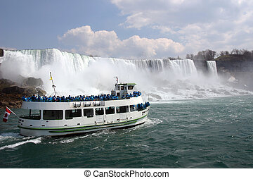 Niagra Falls - The horseshoe falls at Niagra in Canada