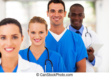 group of medical doctors and nurses