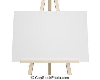 White Board - Close up blank white presentation board, empty...