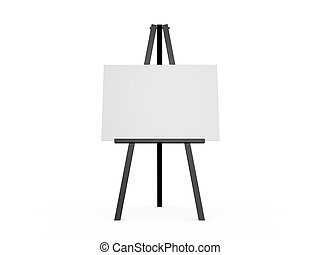 White Board - Blank white presentation board, empty space,...
