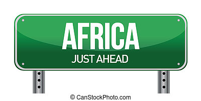Africa traffic road sign