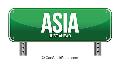 asia traffic road sign