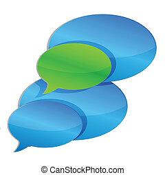 Chat communication Bubbles