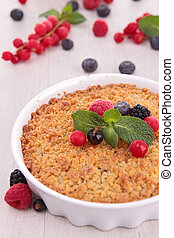 berries fruit crumble