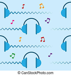 Headphones Repeated - Seamless headphone design repeated...