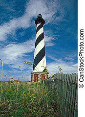 Cape Hatteras Lighthouse with Fence