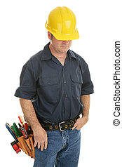 Anonymous Working Man - Construction worker isolated on...
