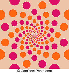 Circle Background Peach - Peach background with colourful...