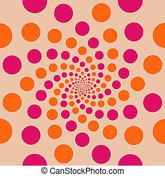 círculo, Plano de fondo, melocotón